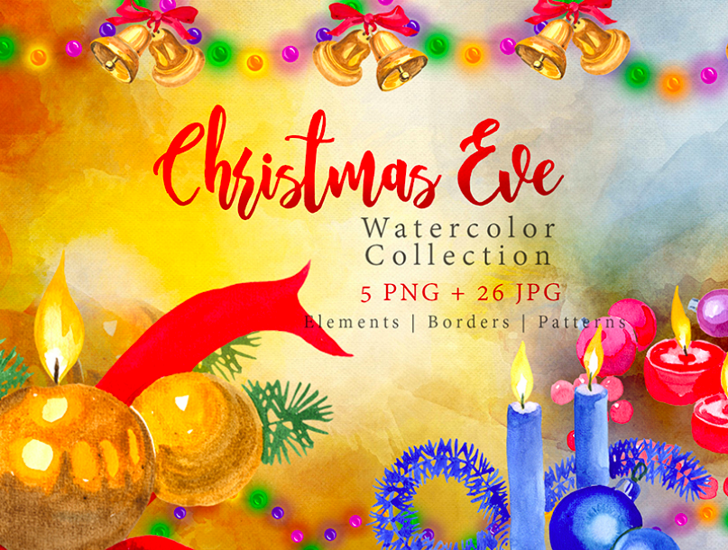 Collection of Festive Candles PNG