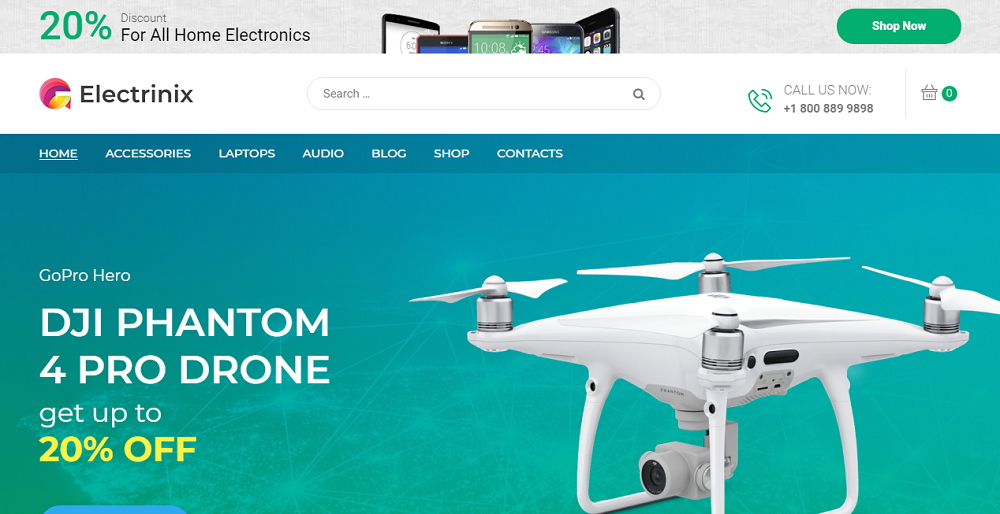 Electrinix - Electronics Shop Elementor WooCommerce Theme