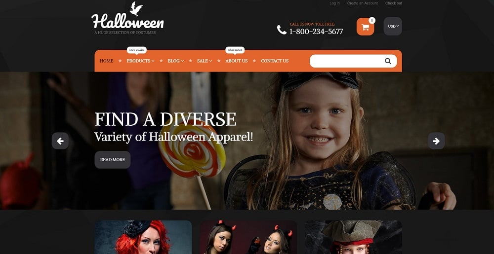 Halloween Costumes Shopify Theme