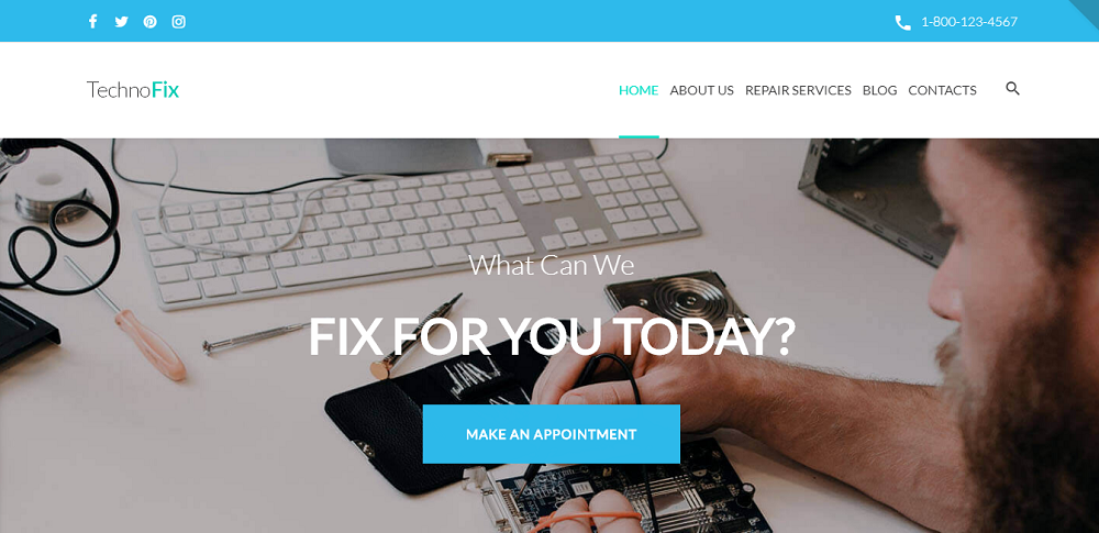 TechnoFix - Tech Repair Company Responsive WordPress Theme