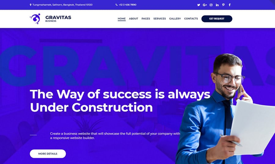 Gravitas Consulting Homepage image
