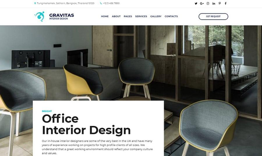 Gravitas Interior Design Homepage image