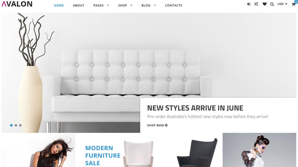 Avalon - Furniture Store Elementor WooCommerce Theme