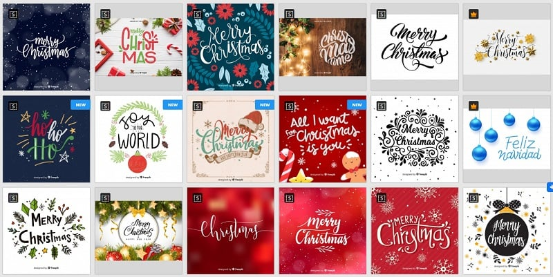 Christmas Fonts on Freepik