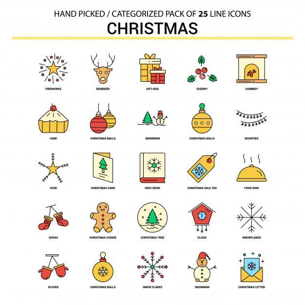 Christmas Icons Graphics by Freepik