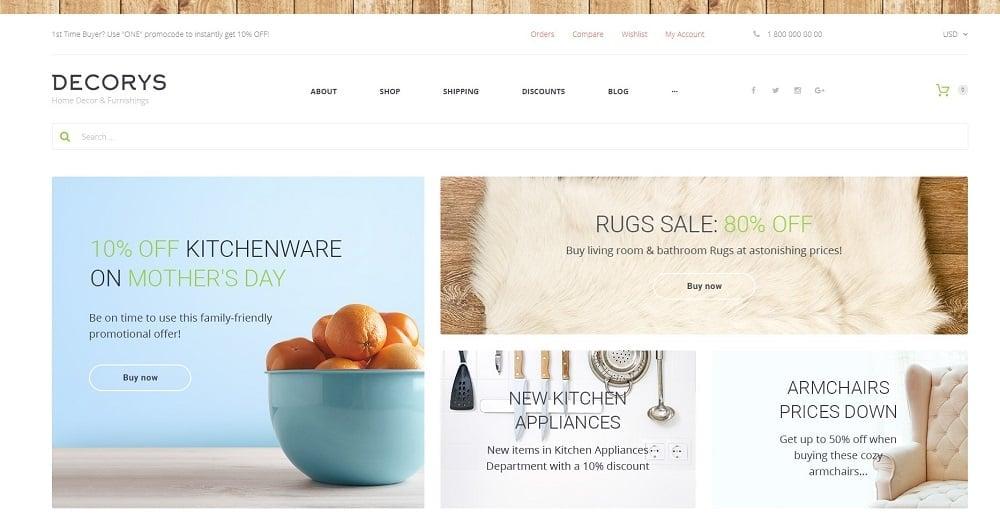 Decorys - Home Decor & Furnishing Online Supermarket WooCommerce Theme