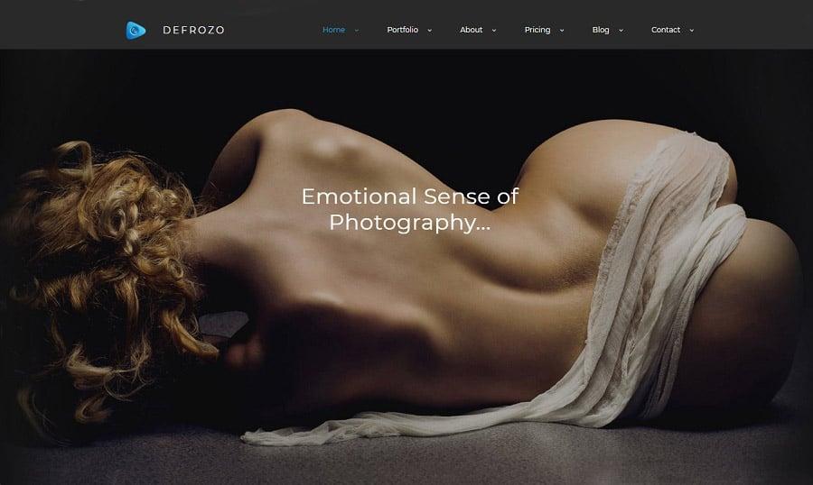 Defrozo Photographer Portfolio MotoCMS 3 Template