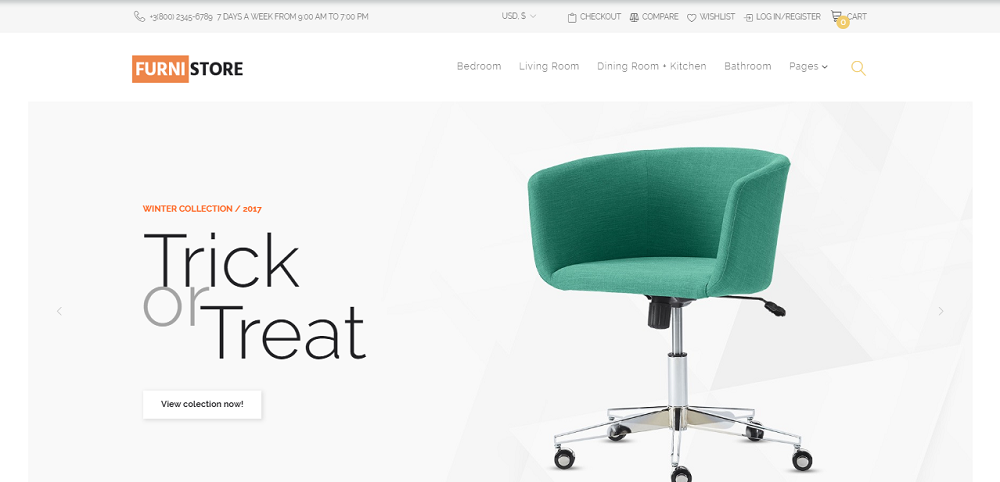 Furnistore - Furniture Store WooCommerce Theme