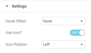jetelements button setting