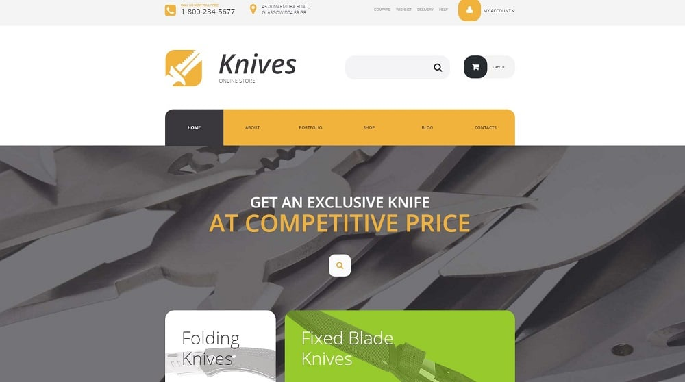 Knives Store WooCommerce Theme