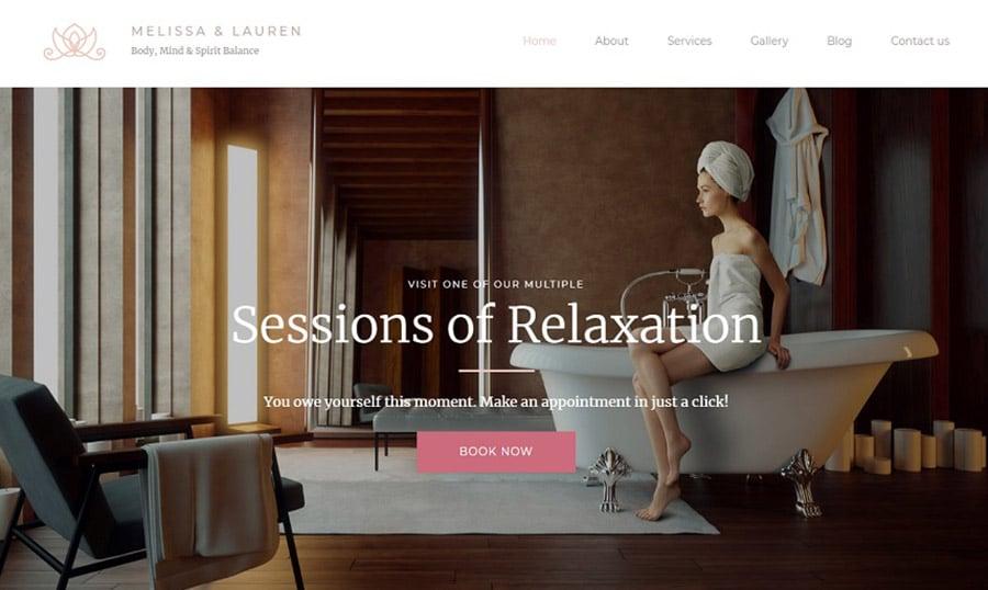 Melissa & Lauren Beauty Salon Responsive Premium MotoCMS 3 Template