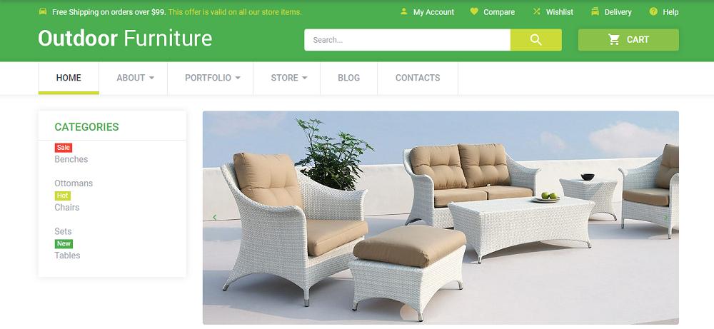 Outdoor Comfort WooCommerce Theme