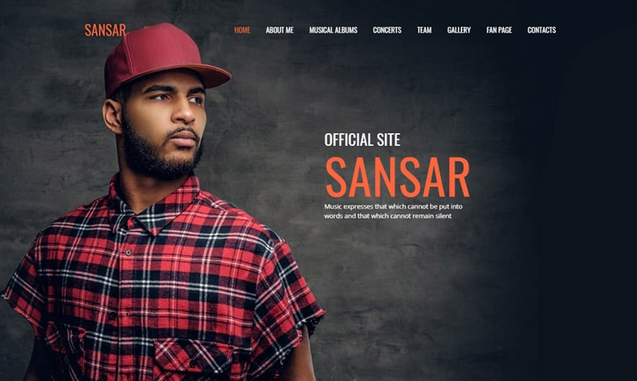 Sansar Singer Premium MotoCMS 3 Template