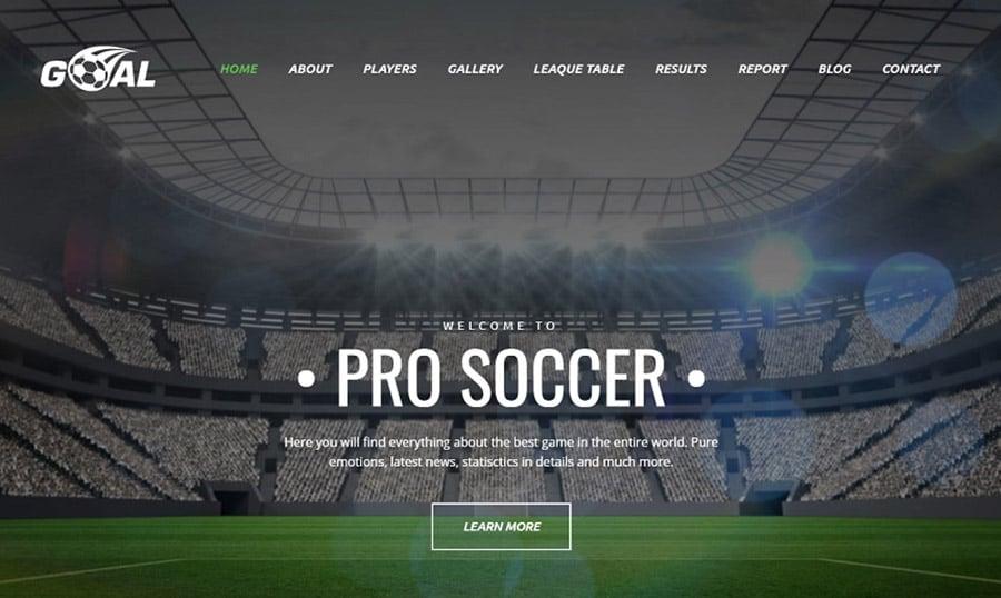 Soccer Club Premium MotoCMS 3 Template