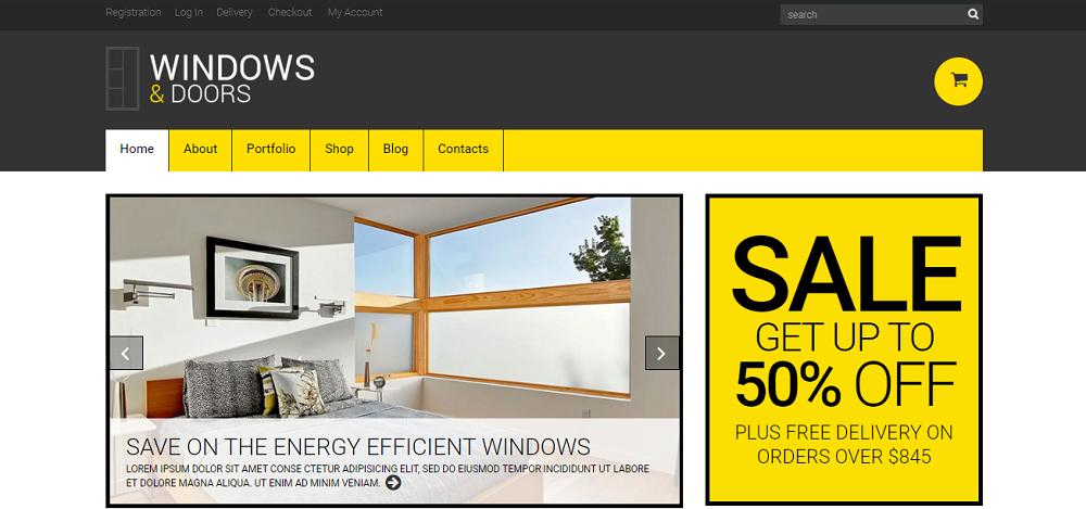 Windows & Doors Responsive WooCommerce Theme