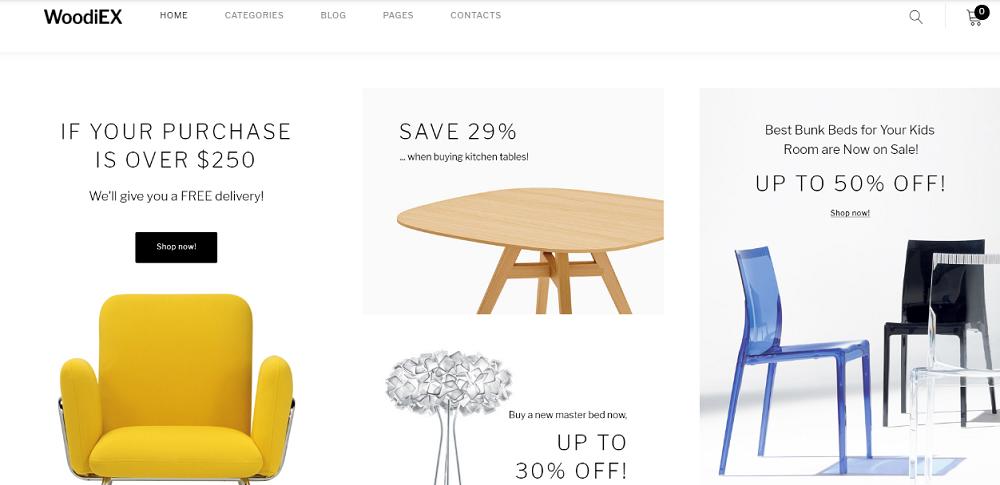 Woodiex - Furniture Shop WooCommerce Theme