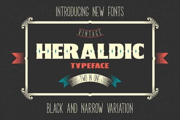 Two Heraldic Font