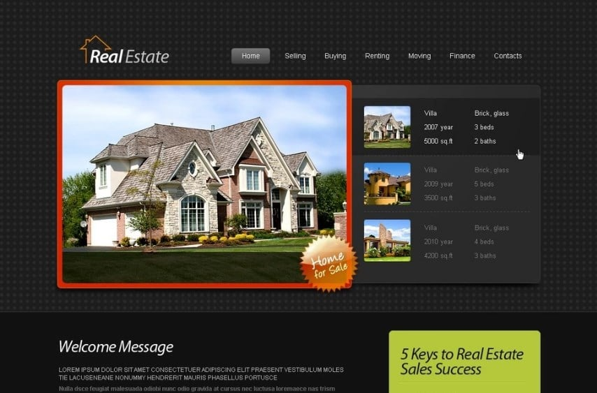 Free HTML5 Template - Real Estate Website