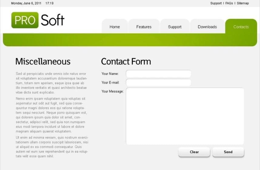 Free Website Template - Software