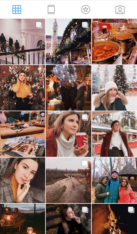 instagram color palette warm