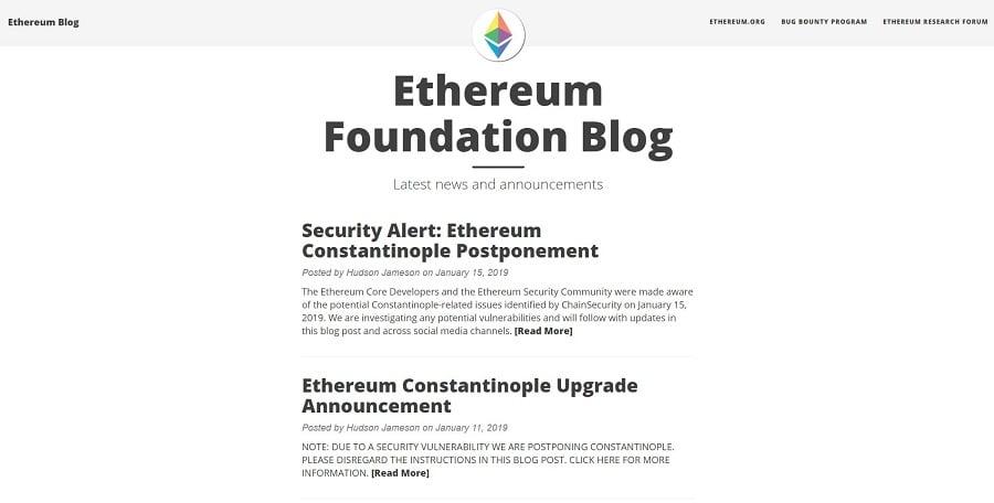ethereum blog