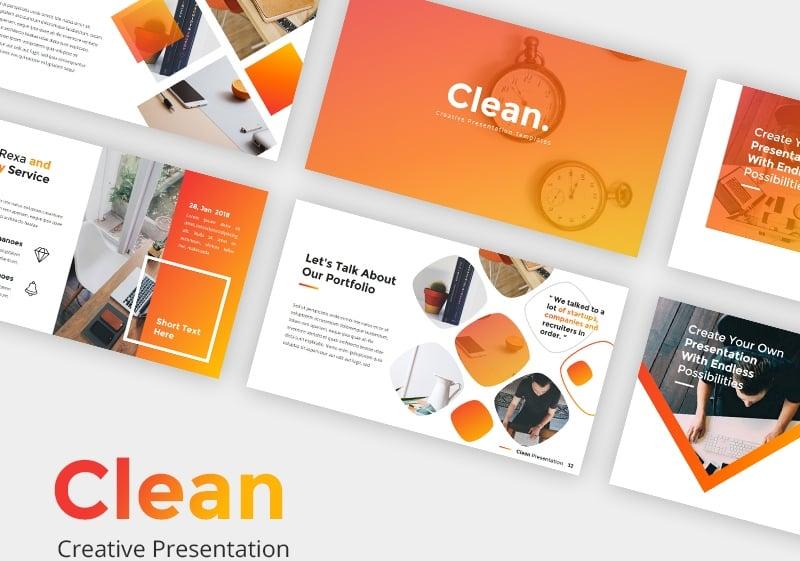 Clean Keynote Template