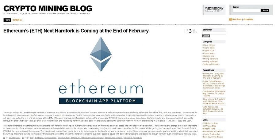 cryptomining blog