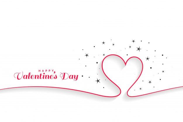 minimal line hearts valentines day background