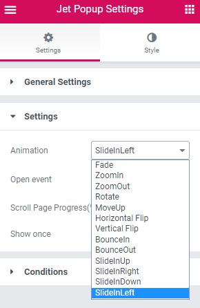 setting animation