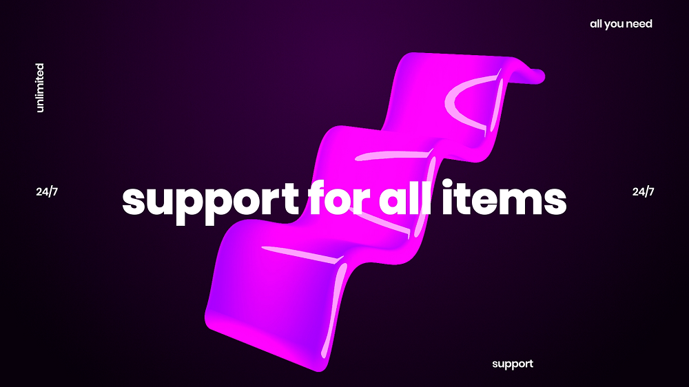 support for all items