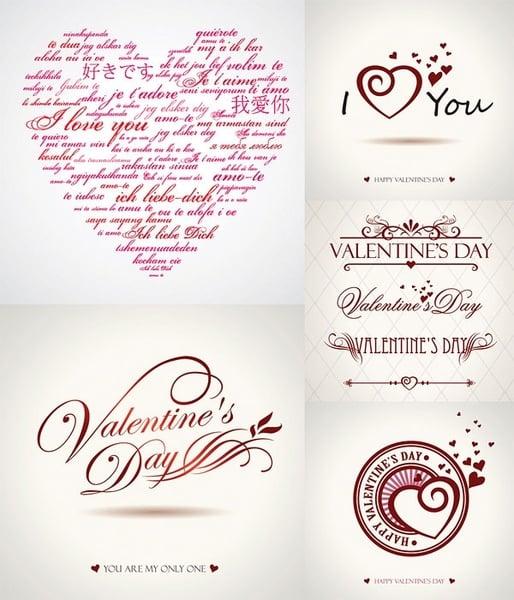 valentine day wordart graphics vector