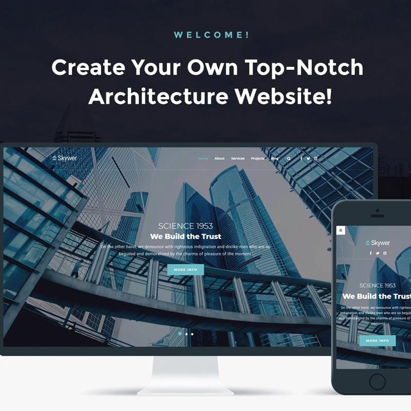 Architecture многоцелевой Modern Elementor WordPress Theme