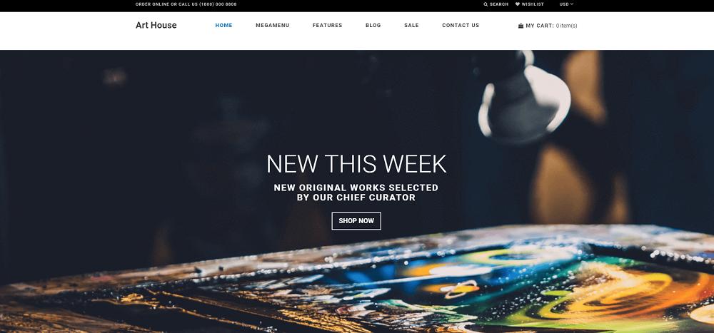 Art House - Art Gallery Shopify Theme