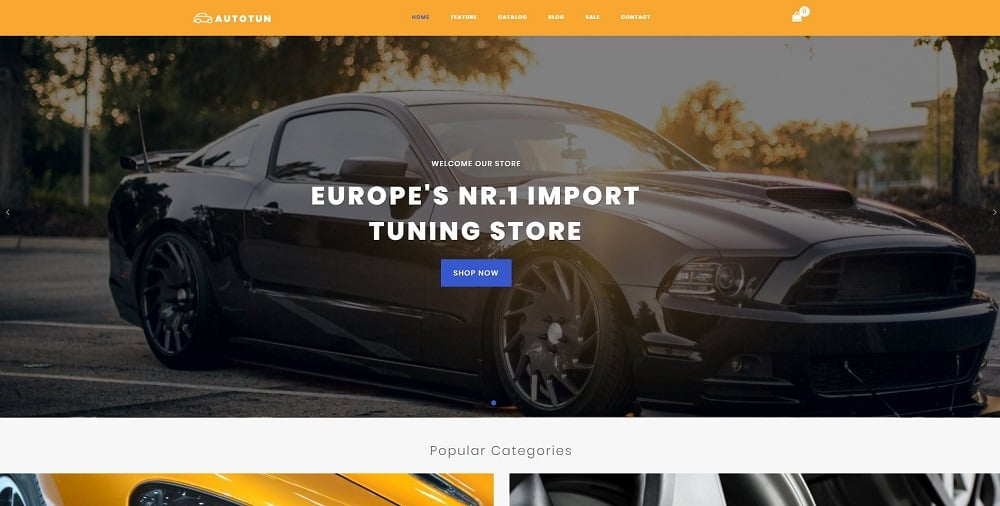 Autotun - Cars & Motorcycles Clean Shopify Theme