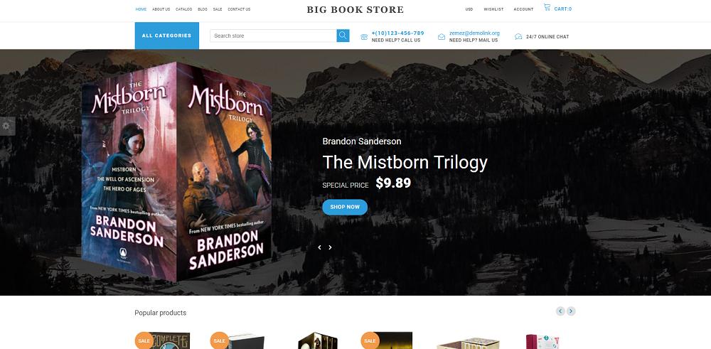 Big Book Store - Shopify Theme
