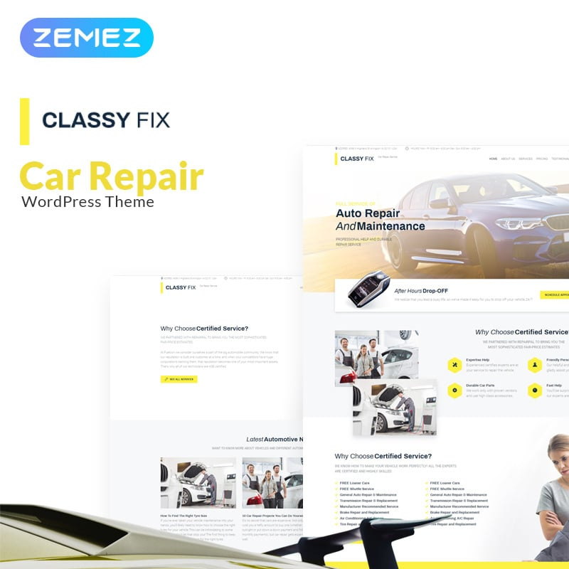 Car Repair Elementor WordPress Theme
