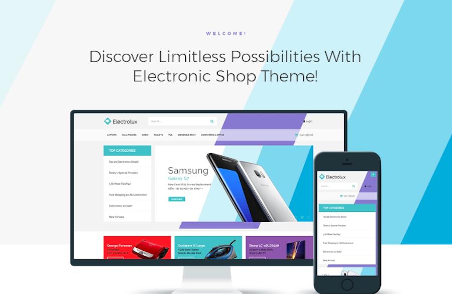 Electrolux - Electronics Shop Elementor WooCommerce Theme
