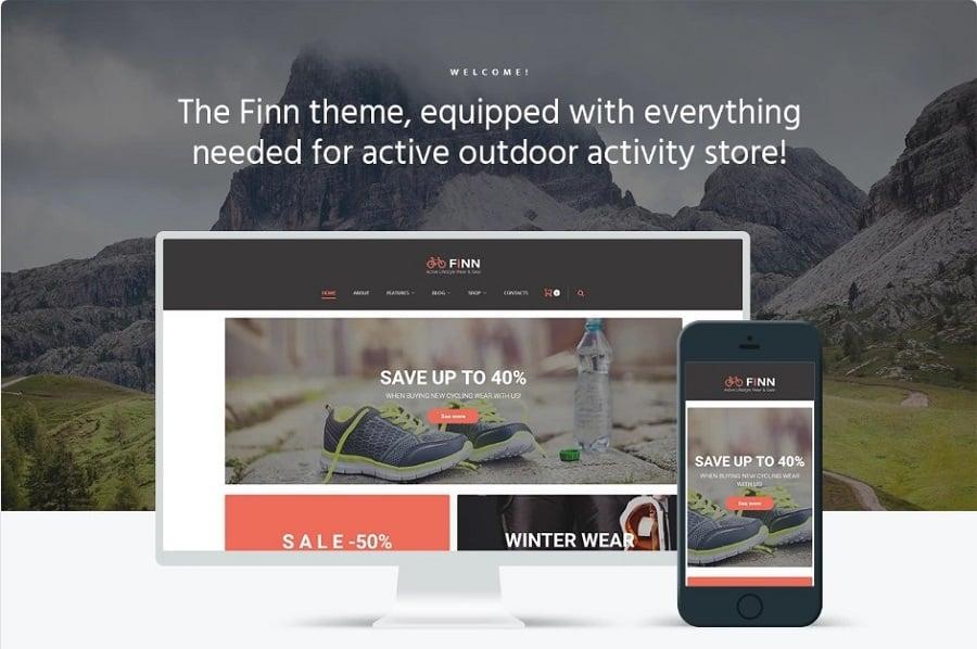 Finn - Outdoors Elementor WooCommerce Theme