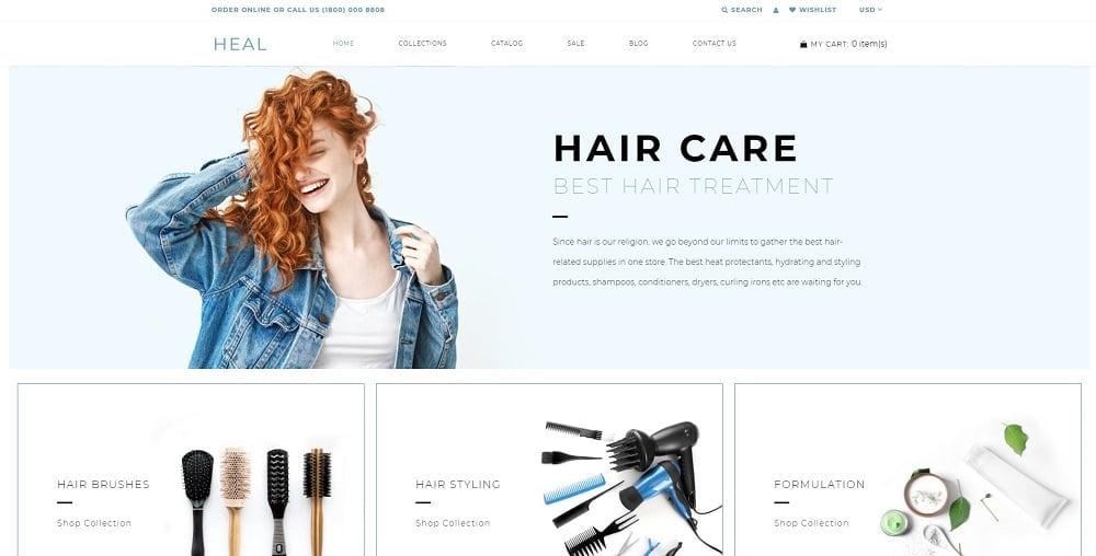 Heal - Beauty E-commerce Modern Shopify Theme
