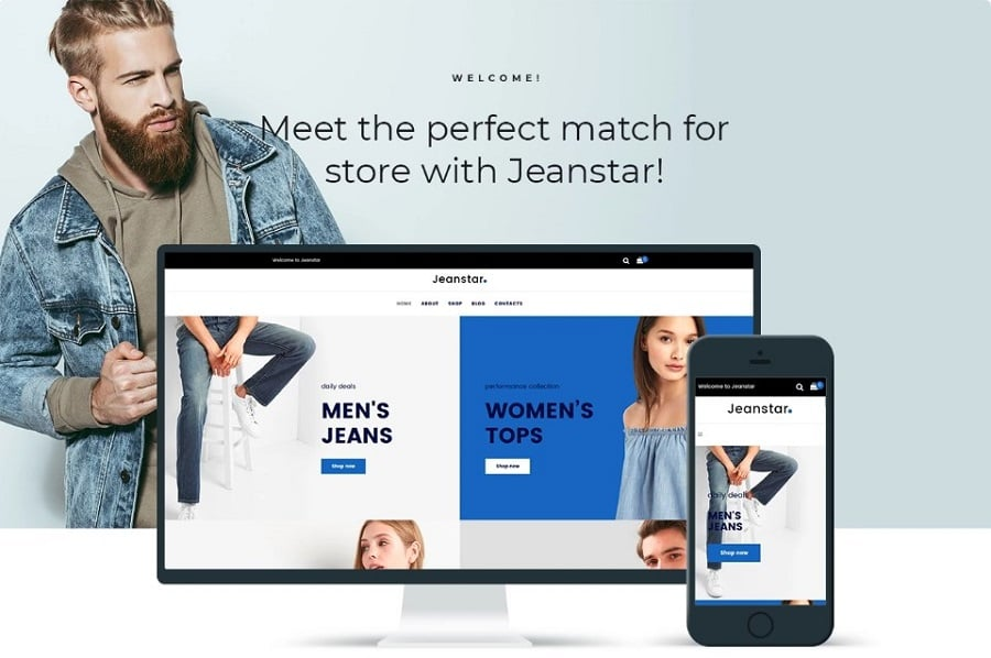 Jeanstar - Clothes Store Elementor WooCommerce Theme