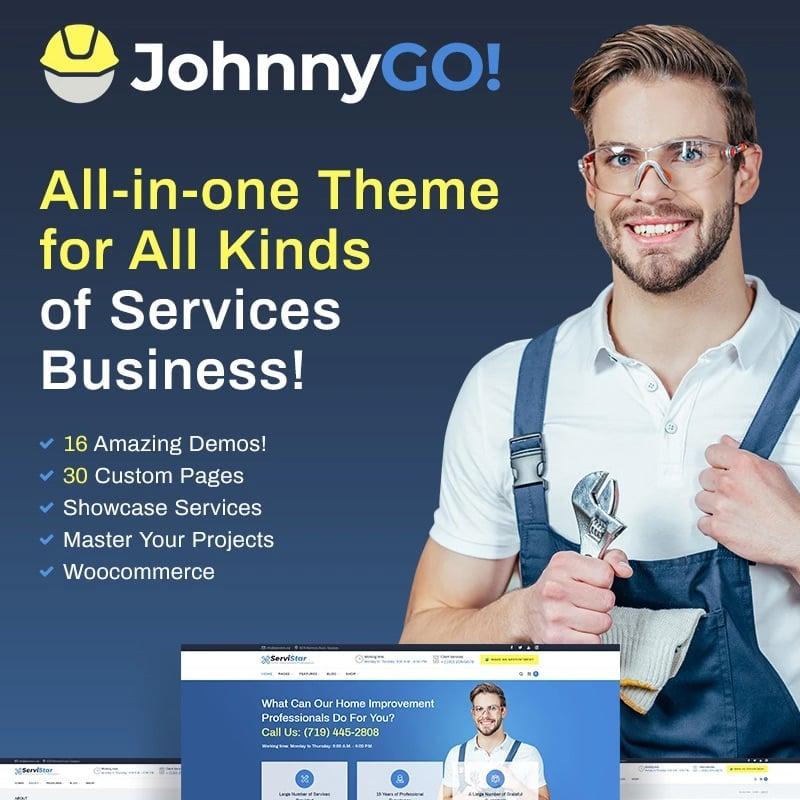 многоцелевой Home Services WordPress Theme