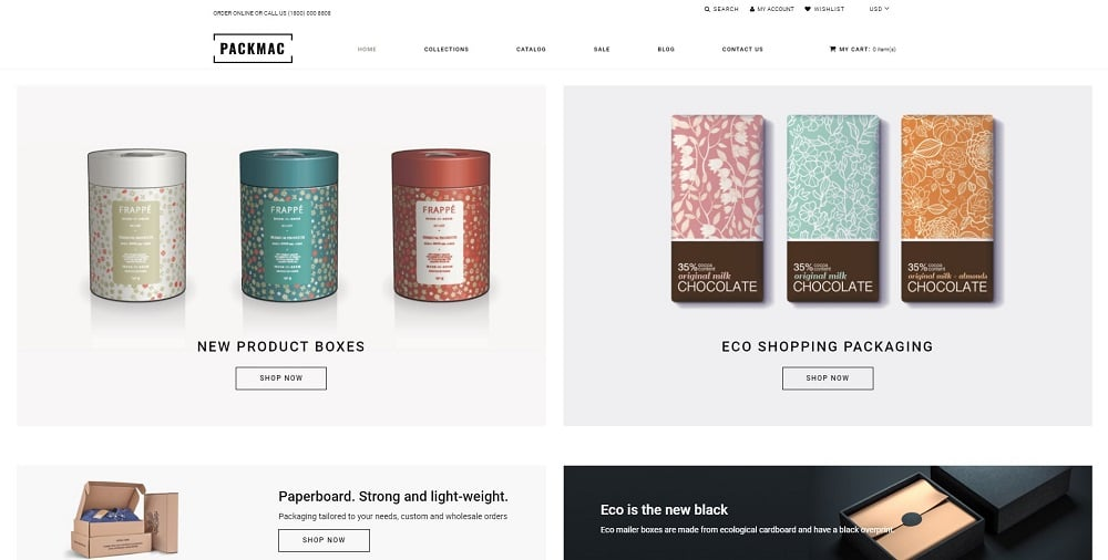 Packmack - Packaging Multipage Clean Shopify Theme