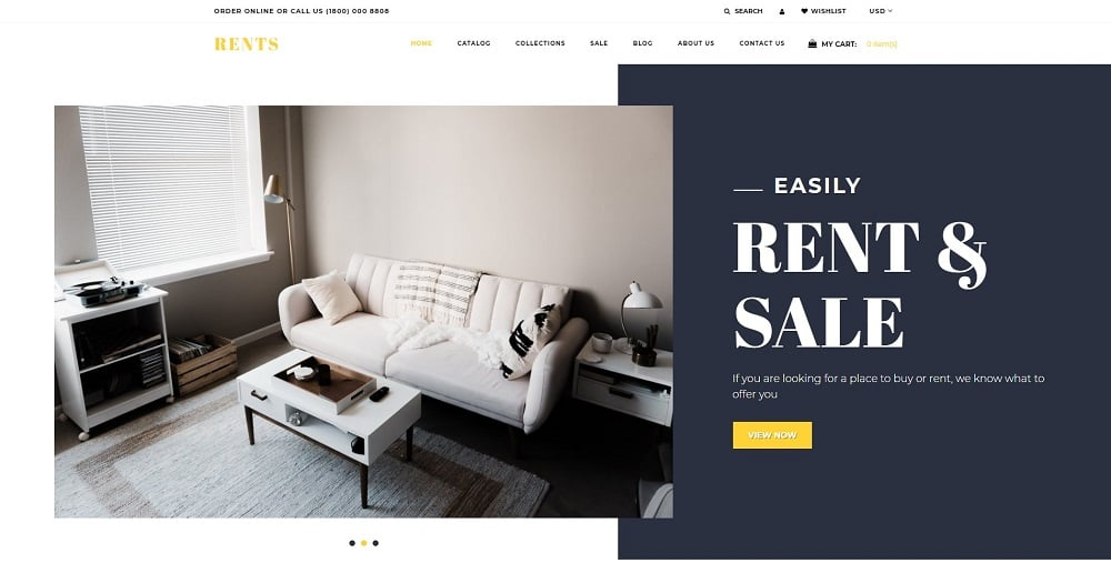 RENTS - Real Estate Multipage Clean Shopify Theme