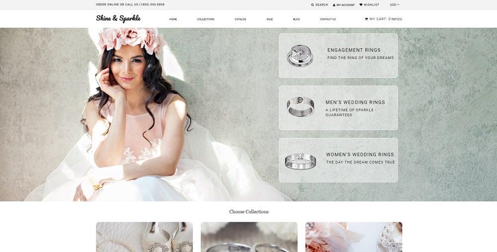 Shine & Sparkle - Jewelry Multipage Stylish Shopify Theme