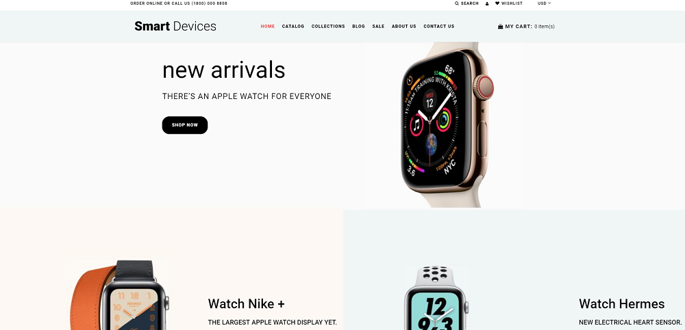 Smart Devices - Smartwatches And Trackers Shopify Theme