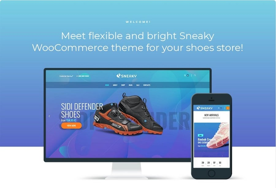 Sneaky - Sport Shoes Elementor WooCommerce Theme
