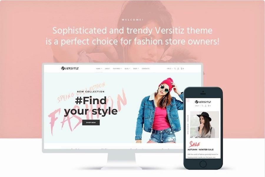 Versitiz - Minimal Women Fashion Elementor WooCommerce Theme