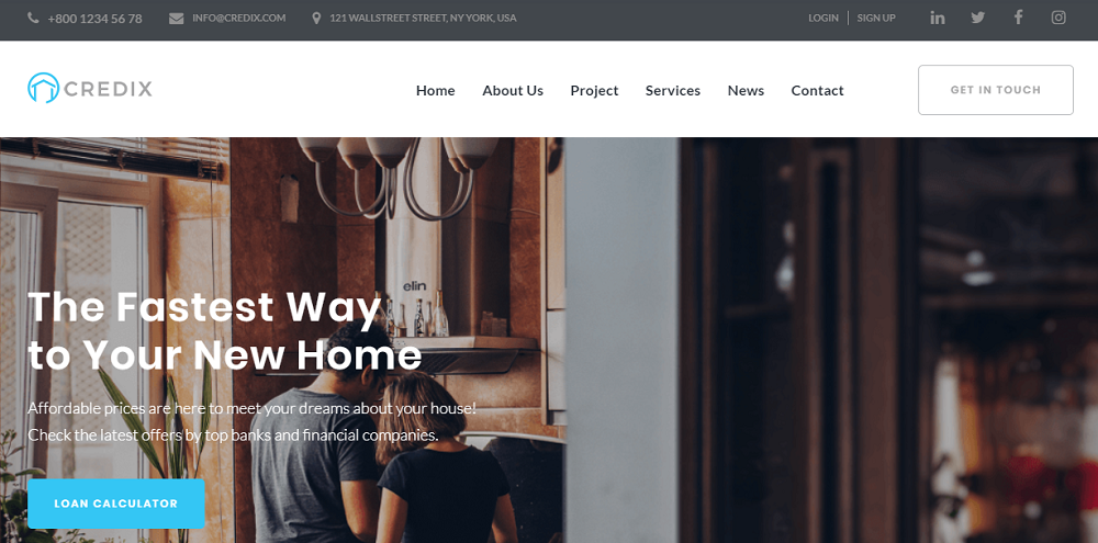Credix - Finance Multipurpose Minimal Elementor WordPress Theme