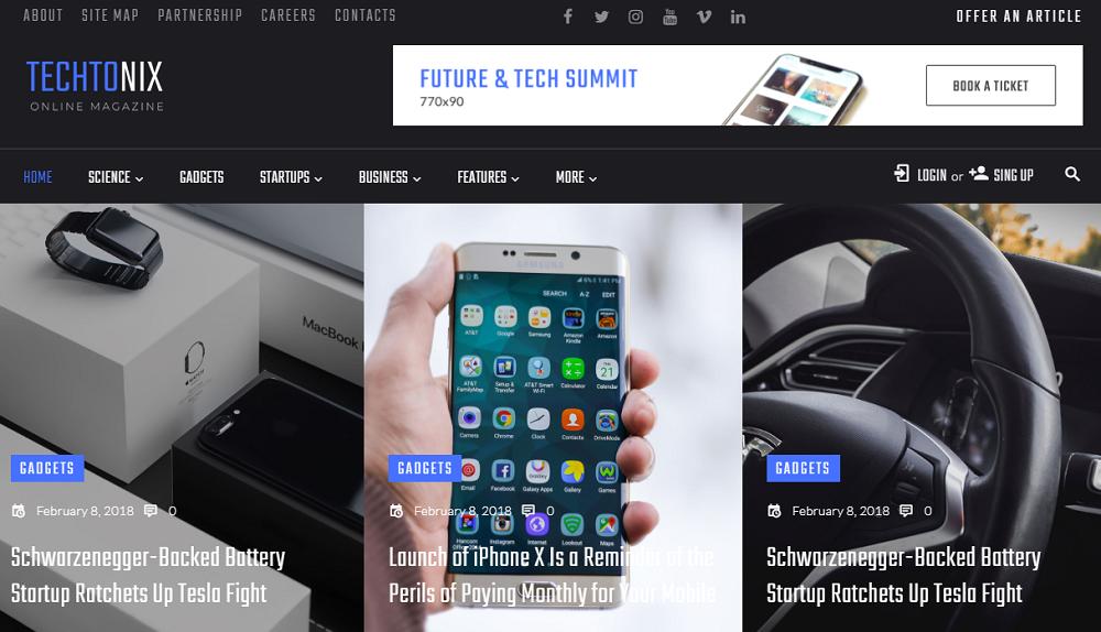 Techtonix - Tech Blog Elementor WordPress Theme