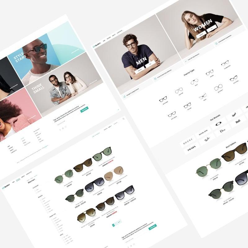 Glasses Store eCommerce Minimal Elementor WooCommerce Theme